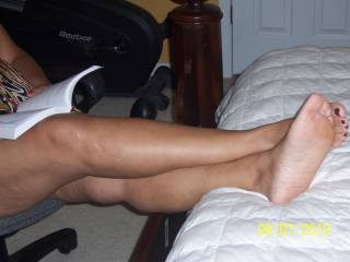 MMMMMMM....I enjoy running my fingers up and down my wifes legs. What do you think?