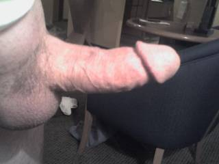 Side View of my hard cock