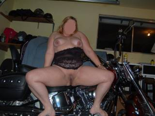Love to have her hot ass on my bike!