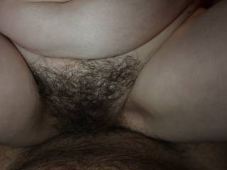 My friend with hairy pussy