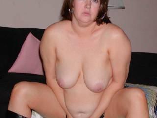 Chubby mature milf stripping.