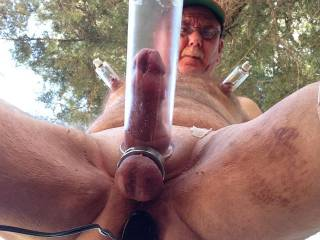 Well I was pumping outdoors at my cabin and thought this would be a great angle.