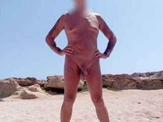 One of a couple of pics that was taken on a beach while on a recent holiday. It wasn't an official nudist beach though.