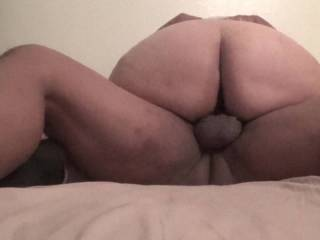 i love my girls big ass she has no mercy if I cum she dont care she keeps going until i give up