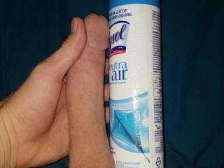 Les start a compare page.. compare to a lysol can and send me the pic. Ladys try to fit that whopping Lysol can in that tight little pussy...send a vid or post a vid an let me k no so I can watch it
