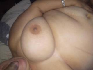 Beautiful BBW friend enjoing my cock in her mouth while she was getting fucked by another friend