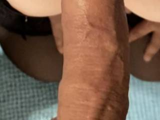 Cleaning some cock after recieving his load into my throat
