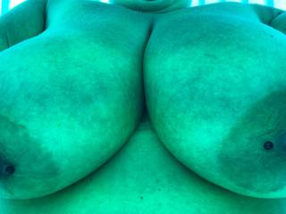My Sexy Lady teases me with shots from the tanning booth!