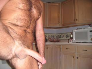 Let me slide my throbbing cock into that hairy hole of yours!! I'll jack you off as I fuck you!