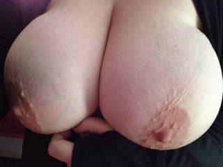 I need some soft hands on my big tits!
