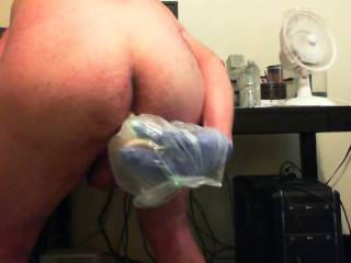 new angle on my dildo fucking, hope you all enjoy, only wish it were a real cock pumping my brains out!