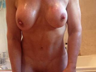 yes you have such a sexy shapely body, great tits, crinkly skinned areola and nipples I'd love to suck. Then I'd love to lick your pussy, easily accessible, give you an intense orgasm; then progress with my thick cock thrusting in to give a series of pleasurable orgasms
