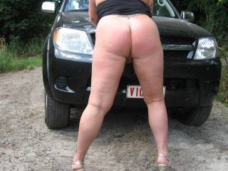 Wow! Would love to fuck you hot ass as you lean on that car hood.
