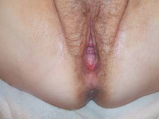 Used hard and gaped open