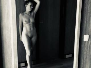 Posing nude in The mirror.