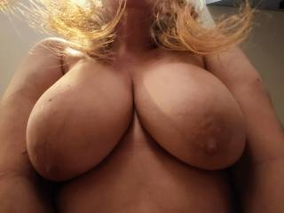 I want your hands all over my married tits, squeezing my big mature titties. Lick my areola. Suck my nipples. Fuck my tits, and unload your wonderful cum all over them. Mmm...