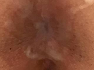 My holes cum splattered an my asshole dribbling j Jiz