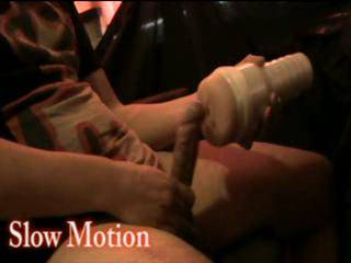 Give myself a Handjob using a fleshlight and cumming!! In the end also in slow motion !! what do you think of it ?