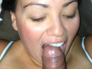 I can certainly understand that. It seems that you can never get enough black cock in your mouth.