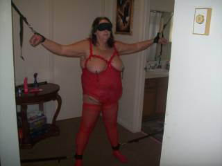 Oh my what fun I could have with you tied up like that sexy lady Mmmmmmm we are going to have to play like this next time we meet