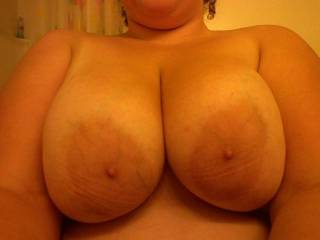 You certainly were given an incredible gift!!!! I definitely want your huge tits in my mouth!!!! Want to smother my cock between them?