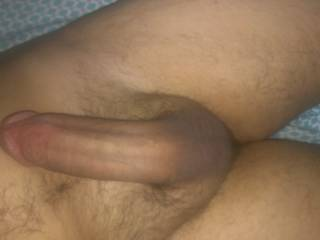 Very nice big thick cock. Very suckable, hope to see lots more of it, and some of the wife