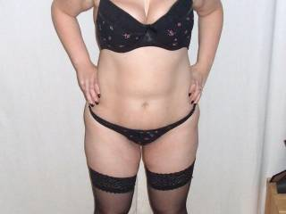My sexy fuckable wife in lingerie.