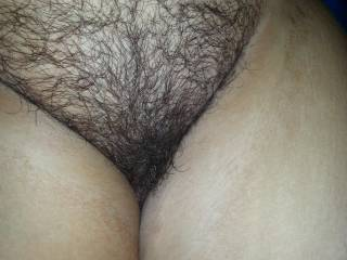 Another close up of that hairy pussy I had fun with!