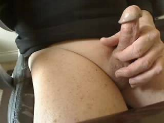 Got very horny talking to a sexy couple in chat... had to capture the moment and it felt so good with all that precum flowing.  Comments welcome... hope you like it.