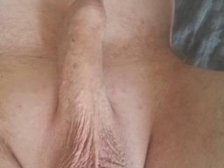 My Shaven uncut dick view