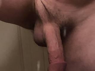 Pic of my semi hard cock