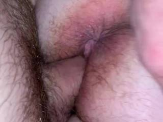 Fucking Kiki's hairy pussy! Her poor little asshole looks beat up
