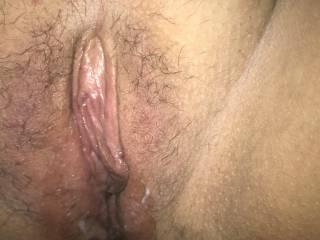 My beautiful wife's freshly fucked pussy🍆🍆💦💦👅