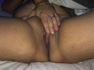 He has been eating her pussy and she is so wet by now