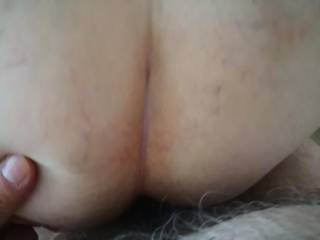 Dick in sexy mature lady, doggy style.