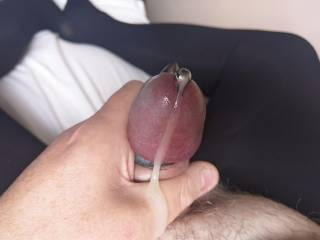 Climaxing with penis plug and mini vibrator