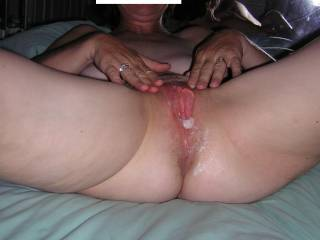 Good slut filled with two very large loads