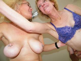 mmmm two happy faces and 4 lovely tits   xoox peter