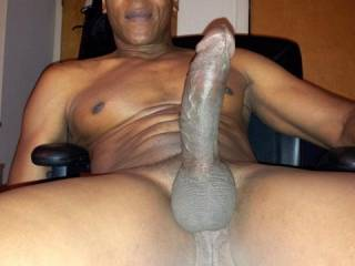 Nice thick and big cock to slid on to....damn I think it would go all the way up into my tummy.  I do believe that cock would fill me up to the max.  I bet you'd love to watch me suck on that wouldn't you?  K