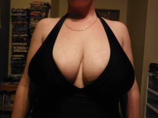new dress & great tits