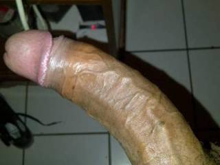 Wow what a big cock!!! I would love to get on top of you and slide my white hairy pussy down on your BBC shaft and see how much of it I could take!! Do you think you could get it all inside me???