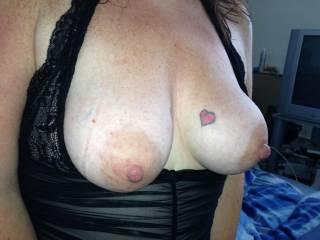 Love to spunk over those massive nips.