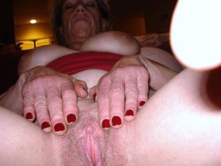 beautiful lips, so juicy... and a jewel-clit, my tongue is getting nervious... breath-taking view indeed...