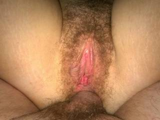 My horny, hairy ass filled.
