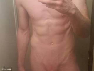 Wish i was there to drop the soap in front of you...feel that thick cock slide into my virgin ass