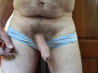 I like the looks of all your cock pictures.  This one I'd pull back your foreskin and suck your cockhead until you cum.  MILF K