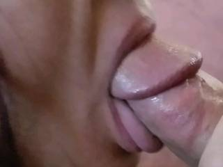 My beautiful neighbor Stephanie can't get enough of sucking my cock... She pulled my cock out so she could milk every last drop of cum out of me.. I don't know if I've ever felt such pleasure just look at how beautiful her tongue is