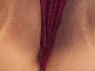 A close up of Alice\'s panty covered pussy, anyone want to be here in real life?