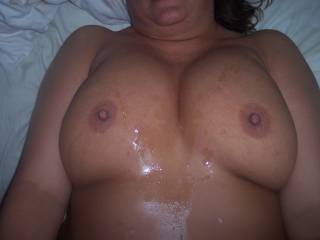 MMMMMMM MMMMMM I WOULD LOVE TO SHOOT A HUGE HOTT LOAD ALL OVER YOUR BEAUTIFUL TITTIES ANYTIME SEXY!!!!