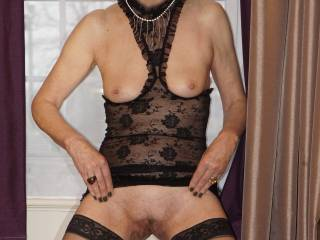 All dressed up for my webcam show